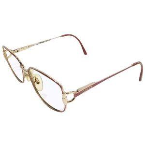 Gucci vintage gold horsebit pink eyeglasses